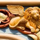 A winged lion (symbol of Mark the evangelist)