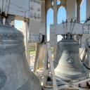 The two bells in the south tower, one honouring Pope Pius X, and the other Archbishop Duhamel